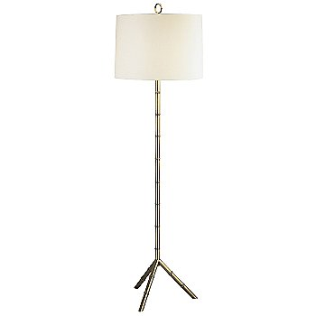 Off-White Linen shade with Modern Brass finish