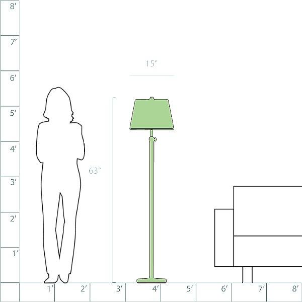 Bruno Adjustable Club Floor Lamp
