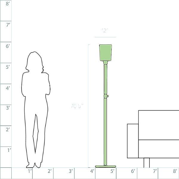Nina Torchiere Floor Lamp