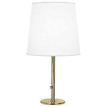 Shown in Polished Brass with Ascot White Fabric