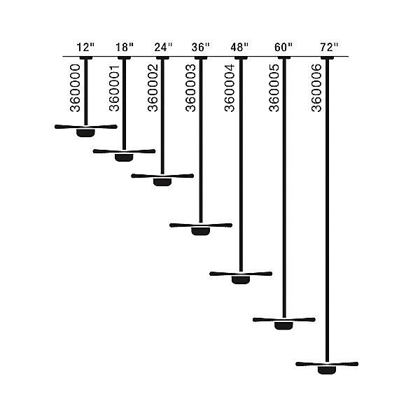 Downrods (1 inch diameter)