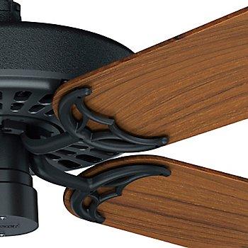 Black with Teak blades / Detail view