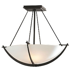 Compass Bowl Semi Flush Mount Ceiling Light