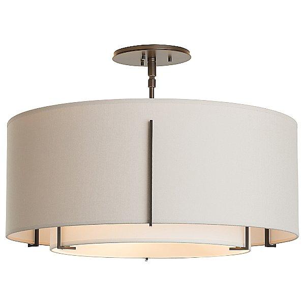 Exos Double Shade Semi-Flush Mount Ceiling Light