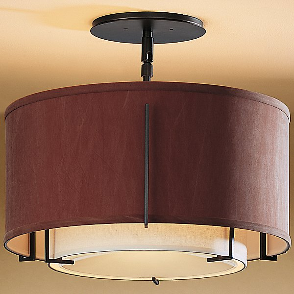 Exos Small Double Shade Semi-Flush Mount Ceiling Light