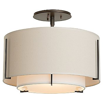 Shown in Natural Linen Outer Shade color, Bronze finish