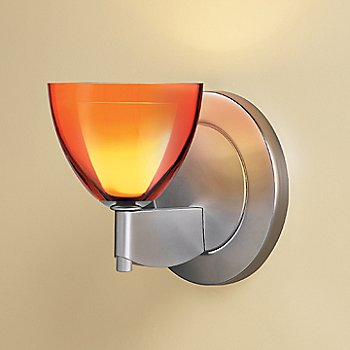Shown in Orange glass, Matte Chrome finish