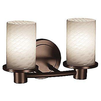 Dark Bronze finish / Weave shade / 2 Light