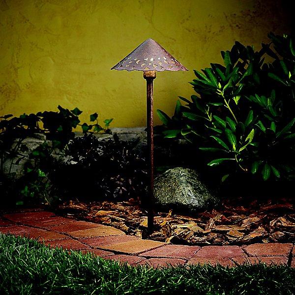 Decorative Hammered Roof Path Light