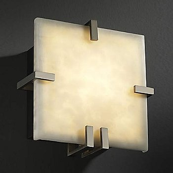 Brushed Nickel finish / Clouds Resin shade