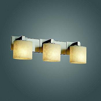 Polished Chrome finish with Oval shade / 3 Light