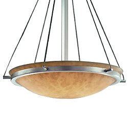 Clouds Bowl Suspension Light with Ring-Small