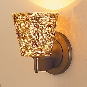 Shown in Gold Textured glass