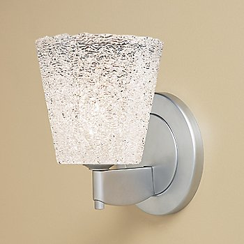 Shown in White Textured glass