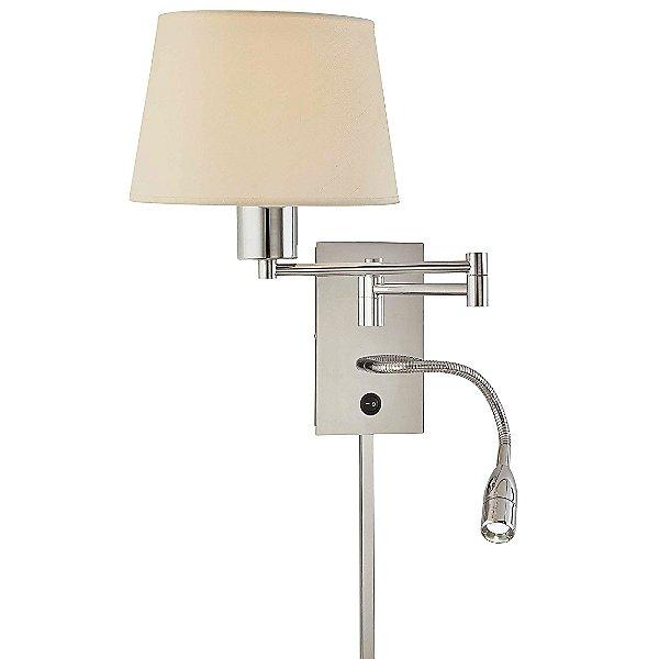 P478 Swing Arm Wall Lamp W LED Reading Light