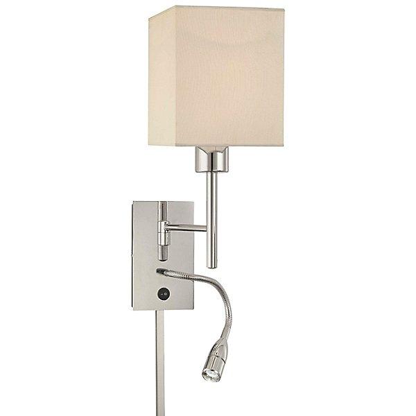 P477 Swing Arm Wall Lamp W LED Reading Light