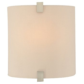 Shown with Desert Clay Fabric shade and Satin Nickel finish