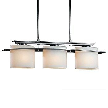 Shown in Opal glass color with Burnished Steel finish, Short Length, 3 light