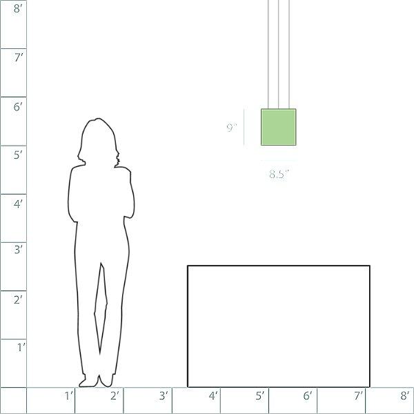 Quantum Square Pendant Light