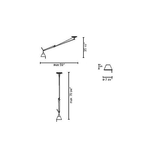 Tolomeo 8 Inch Off-Center Suspension Light