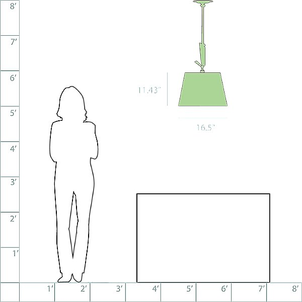 Tolomeo 17 Inch Off-Center Suspension Light