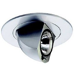 4 Inch Premium Low Voltage Directional Round Spot Trim - 80 Degree Adjustment from Vertical - HR-D425