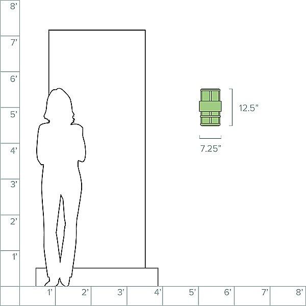 Saturn Small Pocket Outdoor Wall Light