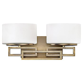 Shown in Brushed Bronze finish, 2 Lights