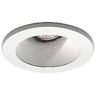 4 Inch Premium Low Voltage Step Baffle Trim - 35 Degree Adjustment from Vertical - HR-D411