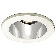 4 Inch Premium Low Voltage Open Reflector Square Trim - 35 Degree Adjustment from Vertical - HR-D412