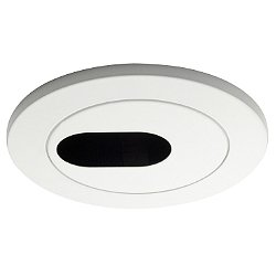 4 Inch Premium Low Voltage Round Slotted Trim - 35 Degree Adjustment from Vertical - HR-D413