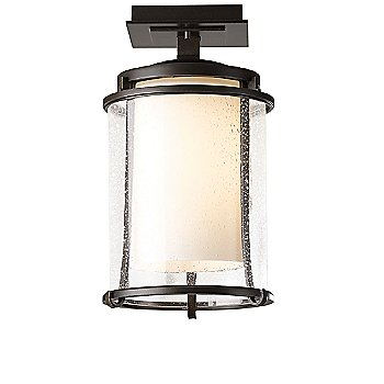 Opal with Seeded Glass Shade color / Coastal Bronze Canopy / Socket / Stem finish