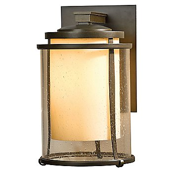 Shown in Clear with Stone glass, Bronze finish, Large size