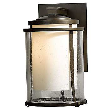 Shown in  Clear with Opal glass, Bronze finish, Large size