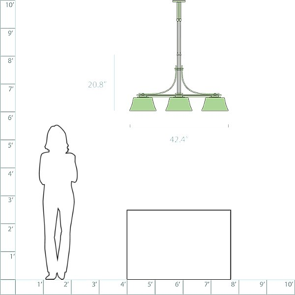 Modern Prairie Adjustable Linear Suspension Light