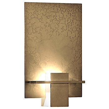 Gold finish / White Art glass color