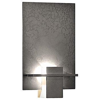 Natural Iron finish / White Art glass color