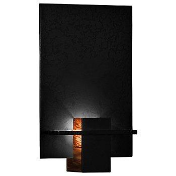Black finish / Topaz Art glass color