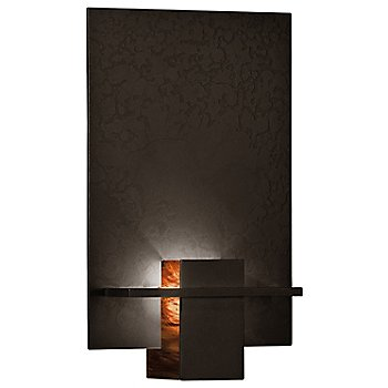 Bronze finish / Topaz Art glass color