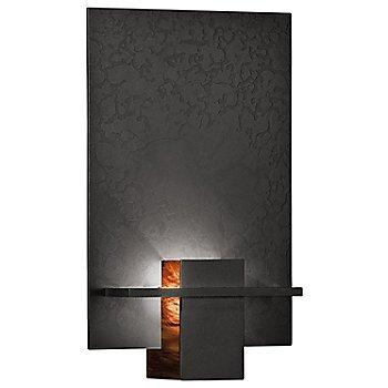 Burnished Steel finish / Topaz Art glass color