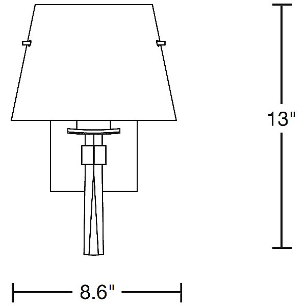 Beacon Hall Wall Sconce with Glass Options No. 204825