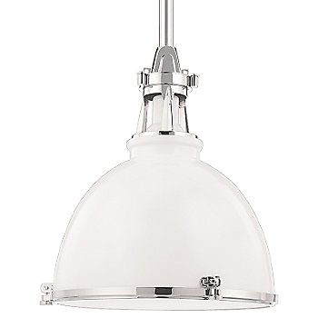 White with Polished Nickel finish, Small size