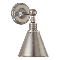 Darien Wall Sconce with Metal Shade (Historic Nckl) - OPENBOX RETURN