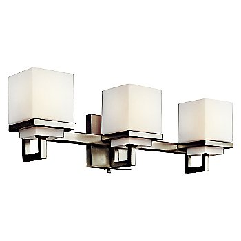 Opal Glass / Brushed Nickel finish / 3 LIght