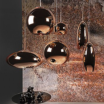 Copper finish, lluminated