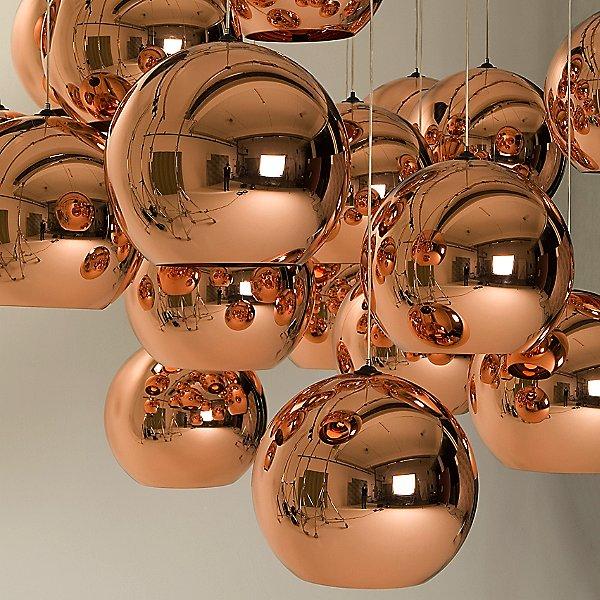 Copper Round Pendant