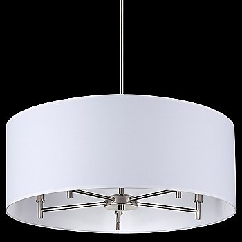 White Linen shade / Brushed Nickel finish