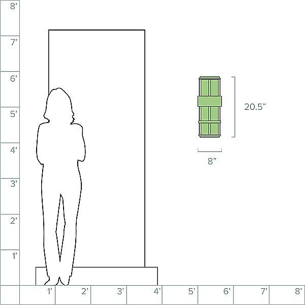 Saturn Large Pocket Outdoor Wall Light
