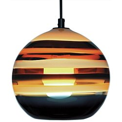 Banded Orb Pendant Light