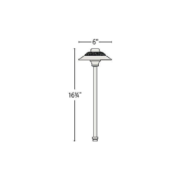 Essence Hammered LED Path Light